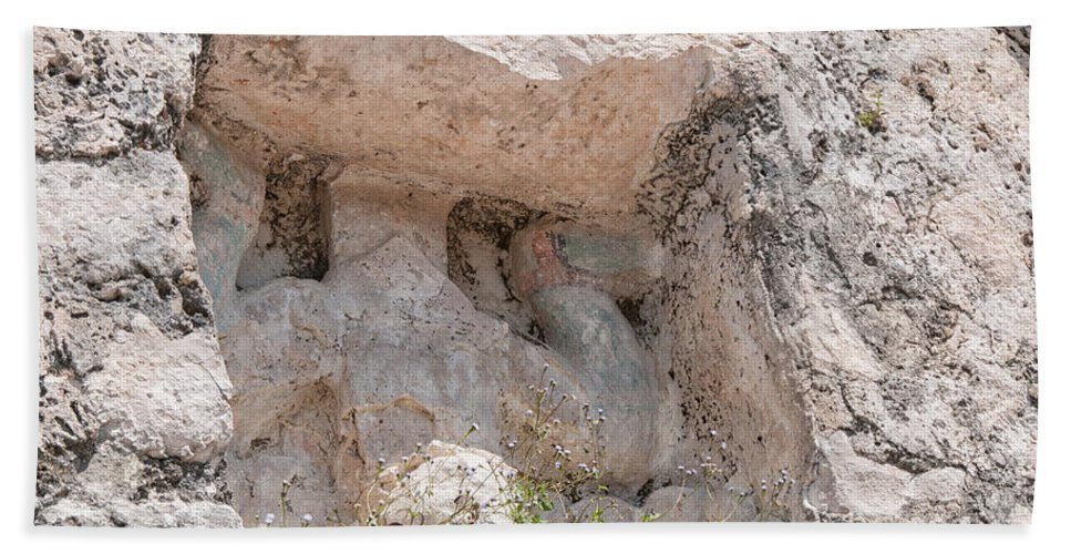 Mexico Quintana Roo Bath Sheet featuring the digital art Grupo Nohoch Mul At The Coba Ruins by Carol Ailles