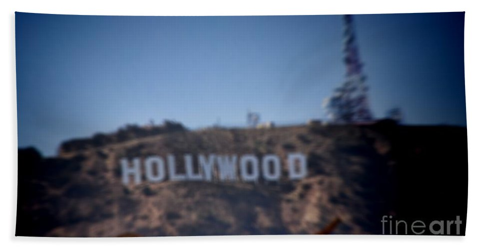 Hollywood Hand Towel featuring the photograph Hollywood Sign by RJ Aguilar