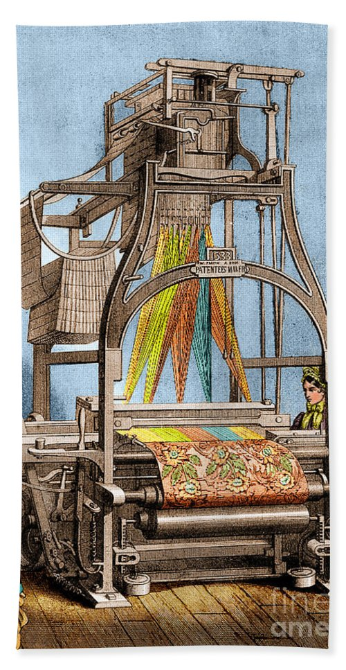 Jacquard Loom For Weaving Textiles Hand Towel for Sale by