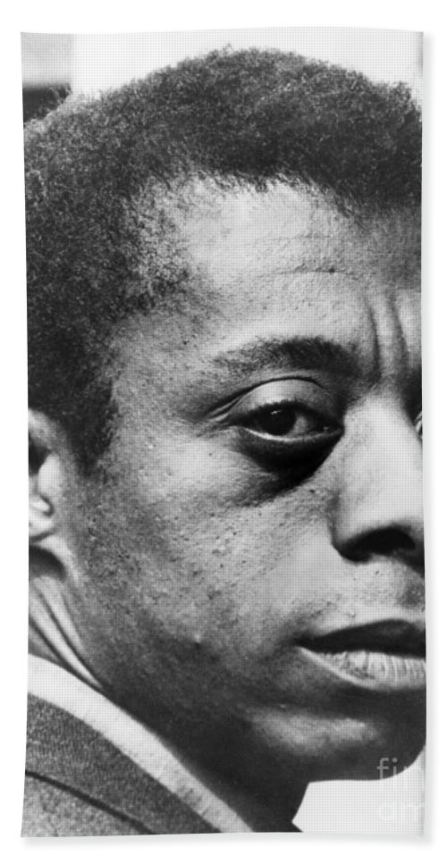 20th Century Bath Towel featuring the photograph James Baldwin by Granger