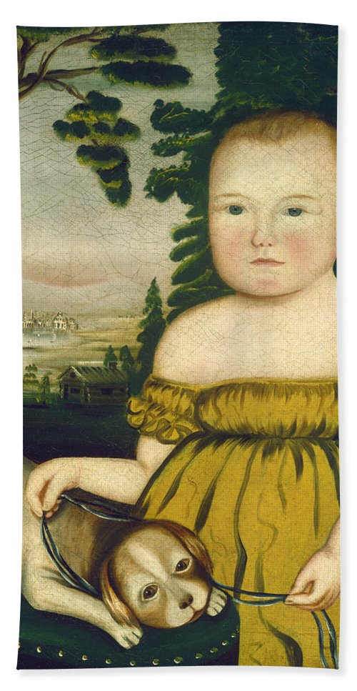 Abram Ross Stanley Bath Sheet featuring the painting Joshua Lamb by Abram Ross Stanley