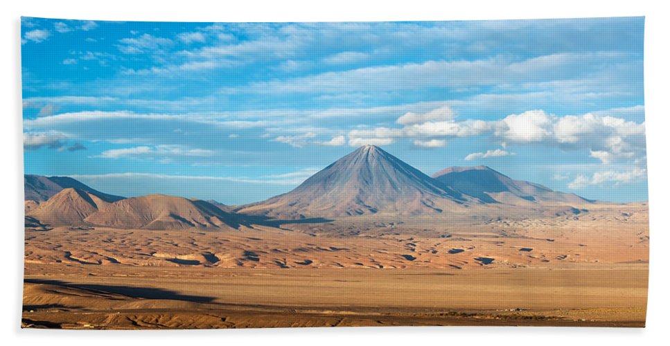 Atacama Hand Towel featuring the photograph Licancabur Volcano View by Jess Kraft