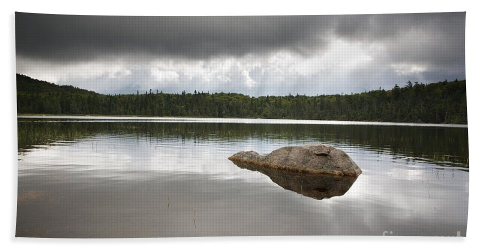 Franconia Notch Bath Sheet featuring the photograph Lonesome Lake - White Mountains New Hampshire Usa by Erin Paul Donovan