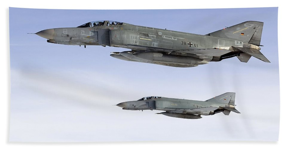 Germany Hand Towel featuring the photograph Luftwaffe F-4f Phantom II by Gert Kromhout