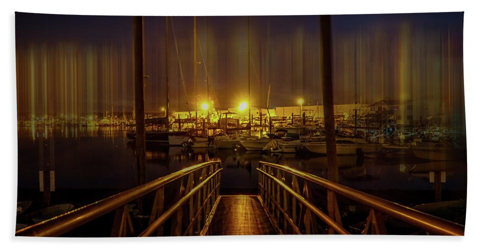Marine Hand Towel featuring the photograph Marine At Night by Lilia D
