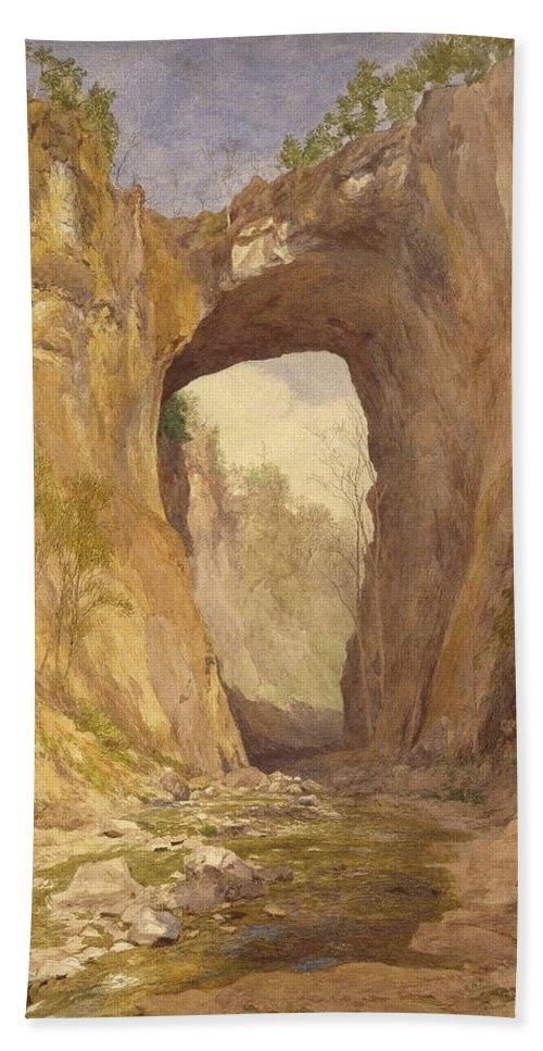 John Henry Hill (american Bath Sheet featuring the painting Natural Bridge by John Henry