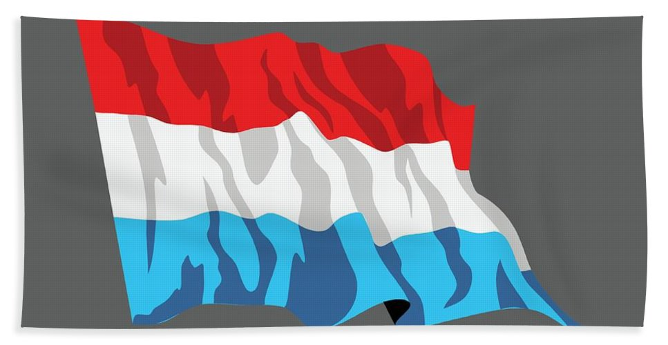 Flag Hand Towel featuring the digital art Netherlands Flag by Frederick Holiday
