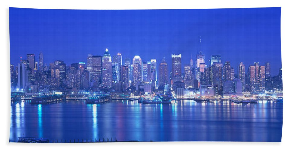 Photography Bath Sheet featuring the photograph New York City Ny by Panoramic Images