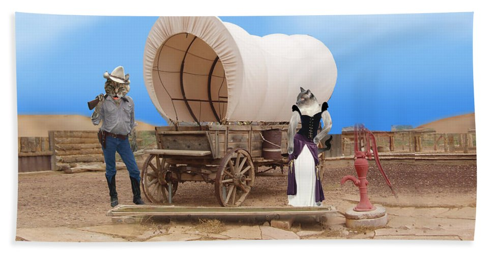 Cats Bath Sheet featuring the photograph Old West Cats by Gravityx9 Designs