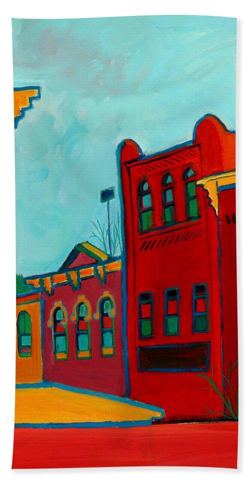 City Bath Sheet featuring the painting Opera House by Debra Bretton Robinson