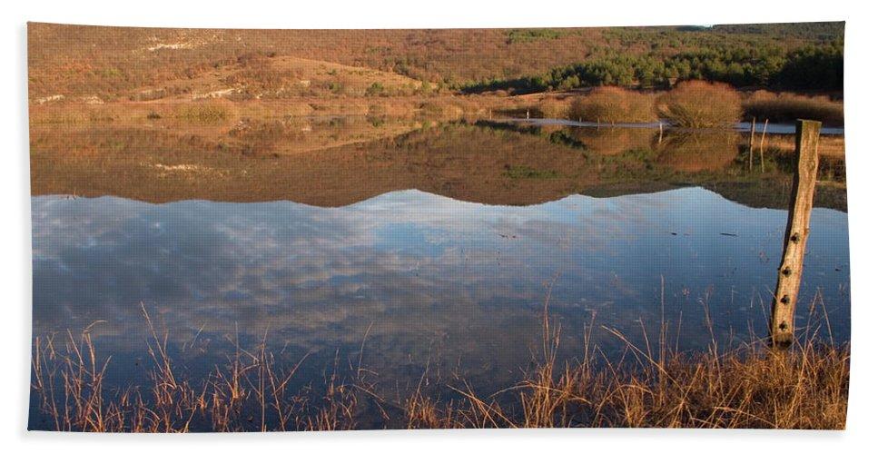 Seasonal Bath Sheet featuring the photograph Palsko Lake by Ian Middleton
