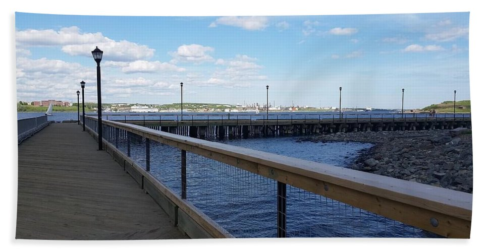 Port Hand Towel featuring the photograph Pier by FL collection
