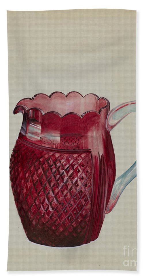 Hand Towel featuring the drawing Pitcher by Ralph Atkinson