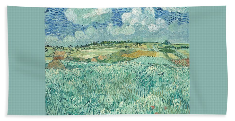 Clouds Hand Towel featuring the painting Plain At Auvers by Vincent van Gogh
