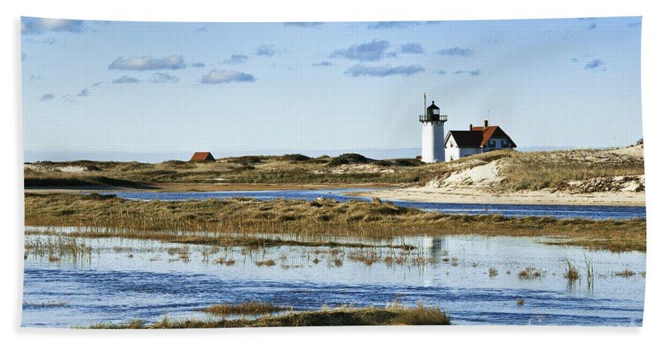 Cape Cod Bath Sheet featuring the photograph Race Point Lighthouse by John Greim