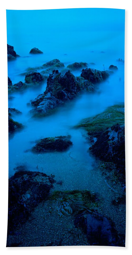 Photography Bath Sheet featuring the photograph Rock Formations On The Coast, Central by Panoramic Images