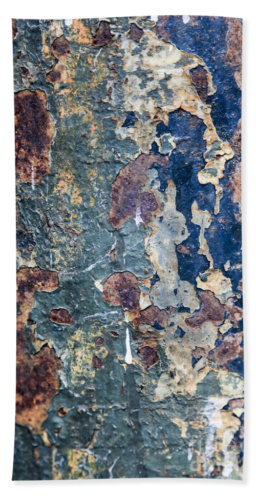 Rustic Hand Towel featuring the photograph Rust Closeup by Vladi Alon