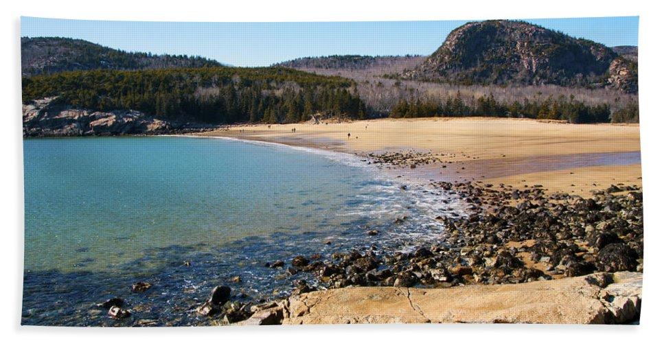 Sand Beach Bath Sheet featuring the photograph Sand Beach Acadia National Park by Glenn Gordon