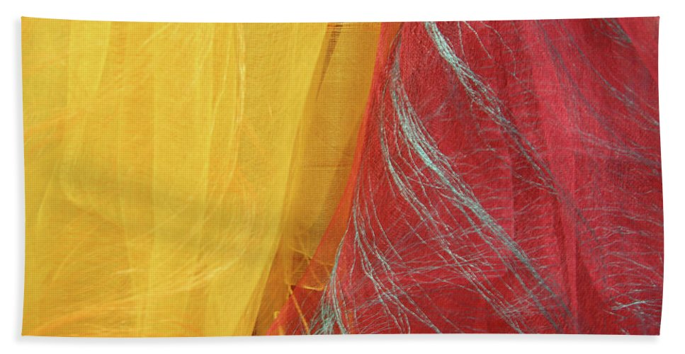 Scarves Hand Towel featuring the photograph 2 Scarves by Cora Wandel
