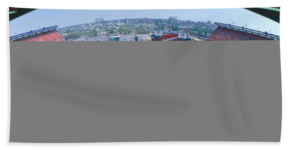 Photography Bath Sheet featuring the photograph Shea Stadium, Ny Mets V. Sf Giants, New by Panoramic Images