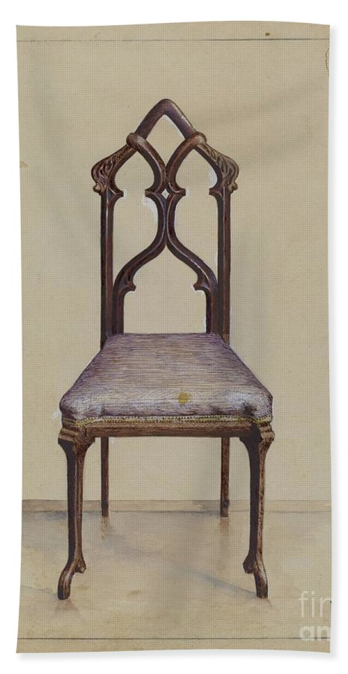 Hand Towel featuring the drawing Side Chair by Joseph Rothenberg