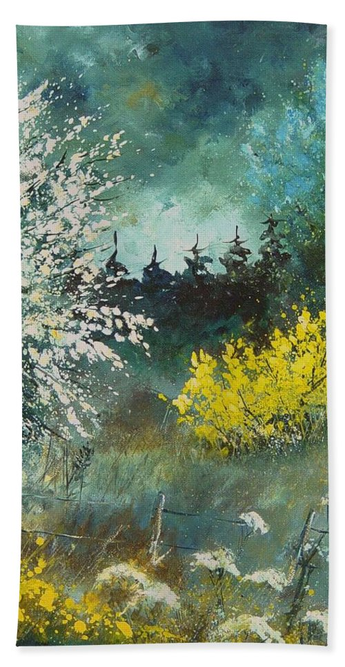 Spring Bath Sheet featuring the painting Spring by Pol Ledent