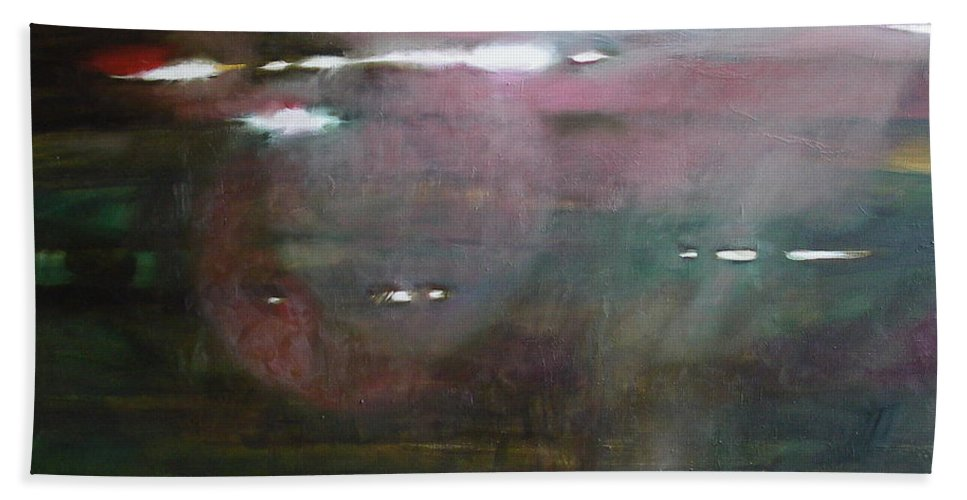 Oil Bath Sheet featuring the painting The Parallel World by Sergey Ignatenko