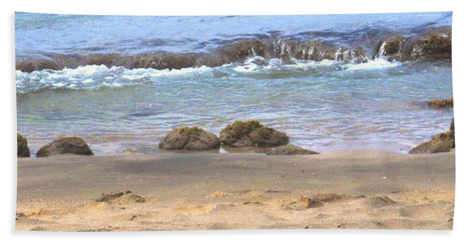 Ocean Hand Towel featuring the photograph Tidal Pool by Ian MacDonald