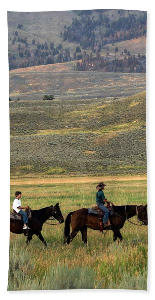 Horse Hand Towel featuring the photograph Trail Ride by Marty Koch