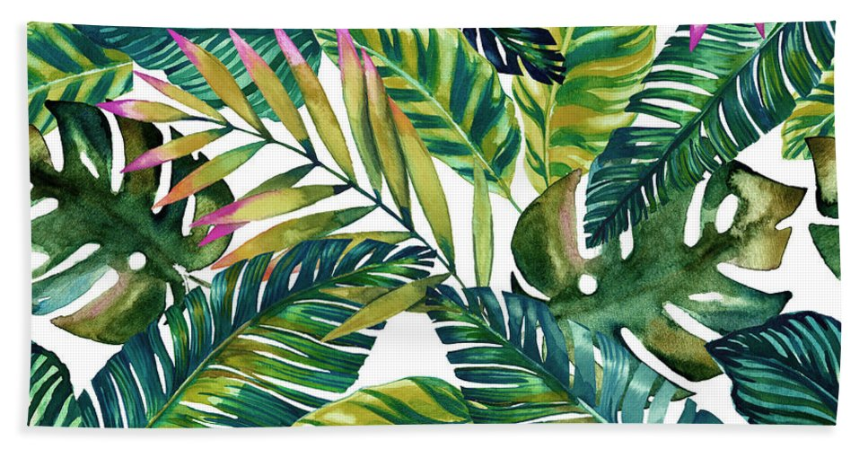 Summer Hand Towel featuring the digital art Tropical by Mark Ashkenazi
