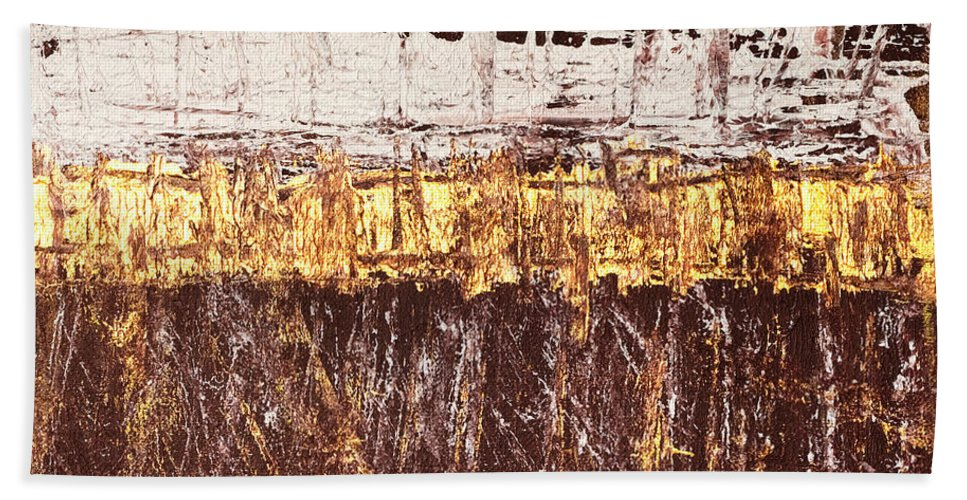 Rothko Hand Towel featuring the painting Untitled No. 3 by Julie Niemela