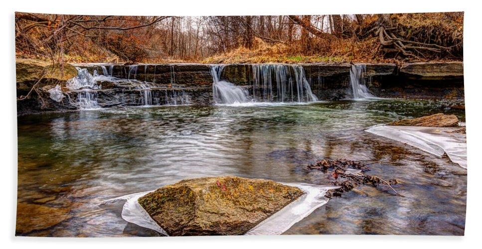 Waterfall Hand Towel featuring the photograph Walnut Creek Waterfall by Mark McDaniel