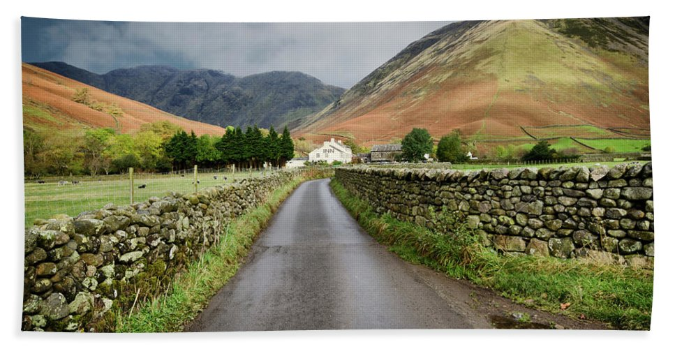 Wasdale Head Bath Towel featuring the photograph Wasdale Head by Smart Aviation