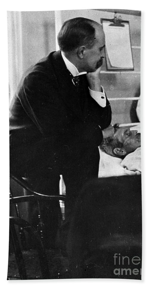 Science Hand Towel featuring the William Osler, Canadian Physician by Science Source