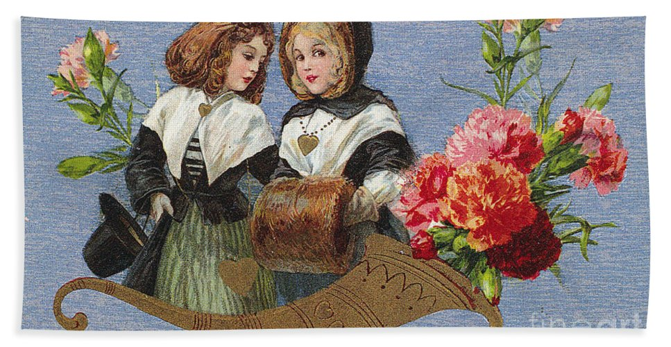 1913 Bath Sheet featuring the photograph Valentines Day Card by Granger