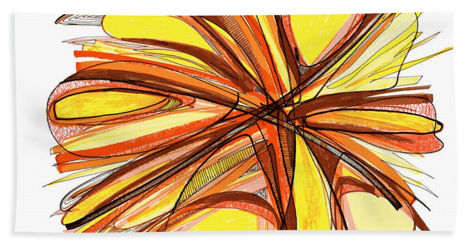 Abstract Art Hand Towel featuring the drawing 2010 Abstract Drawing Thirteen by Lynne Taetzsch