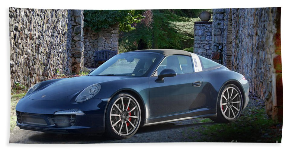 Auto Hand Towel featuring the photograph 2014 Porsche 911 Targa 4s II by Dave Koontz