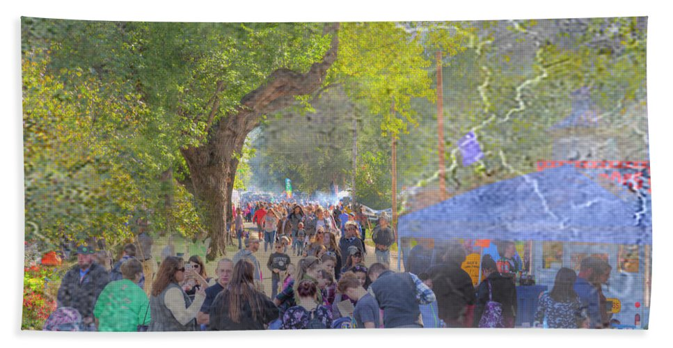 Photography Hand Towel featuring the digital art 2017 Hartsburg Punkin Festival by Larry Braun