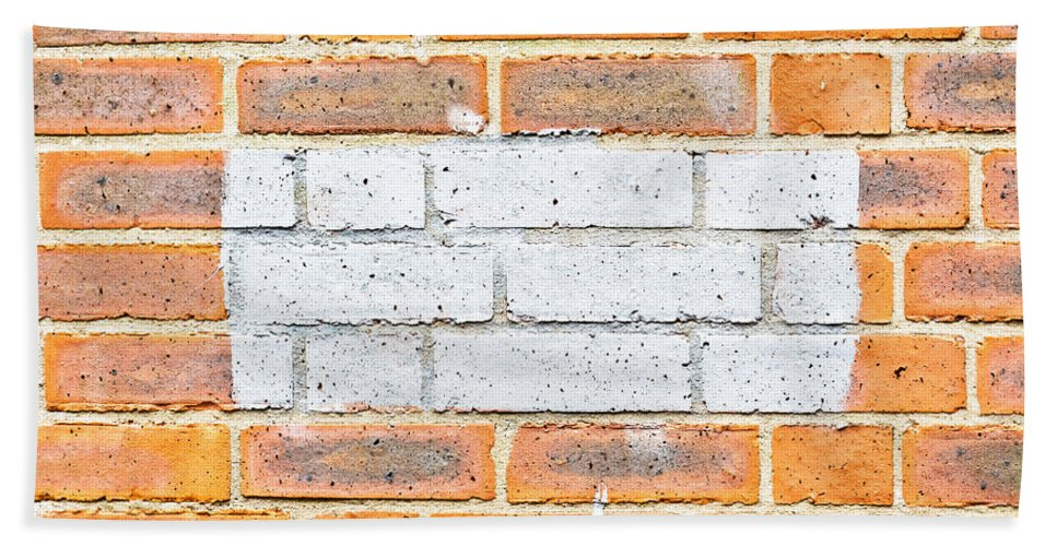 Aging Bath Sheet featuring the photograph Brick Wall by Tom Gowanlock