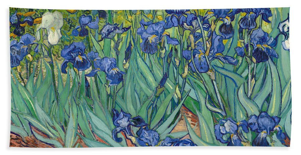Dutch Hand Towel featuring the painting Irises by Vincent van Gogh