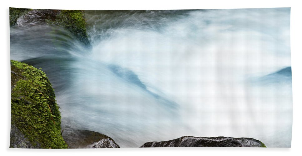 Beautiful Bath Towel featuring the photograph Waterfall by Les Cunliffe