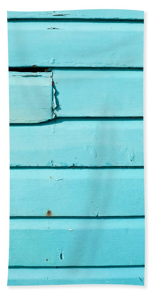 Abstract Bath Sheet featuring the photograph Blue Wood by Tom Gowanlock