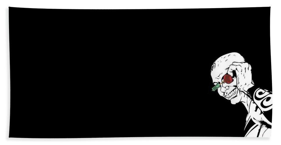 Comics Transmetropolitan Hand Towel featuring the digital art 26349 Comics Transmetropolitan by Rose Lynn