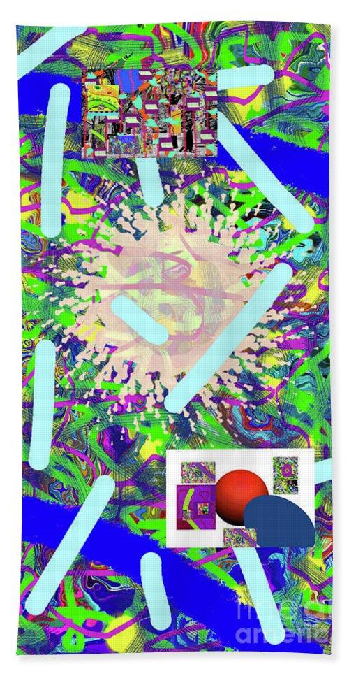 Walter Paul Bebirian Bath Sheet featuring the digital art 3-21-2015abcdefghijklmnopqrtuvwxyzabcd by Walter Paul Bebirian