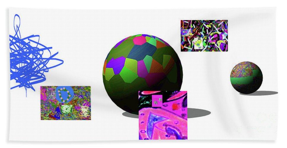 Walter Paul Bebirian Bath Sheet featuring the digital art 3-23-2015dabcdefg by Walter Paul Bebirian