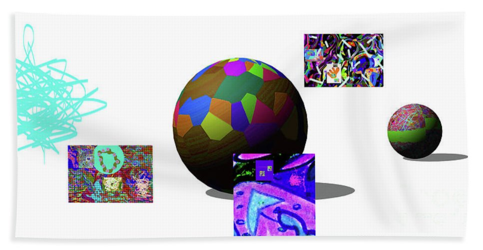 Walter Paul Bebirian Bath Sheet featuring the digital art 3-23-2015dabcdefghijkl by Walter Paul Bebirian