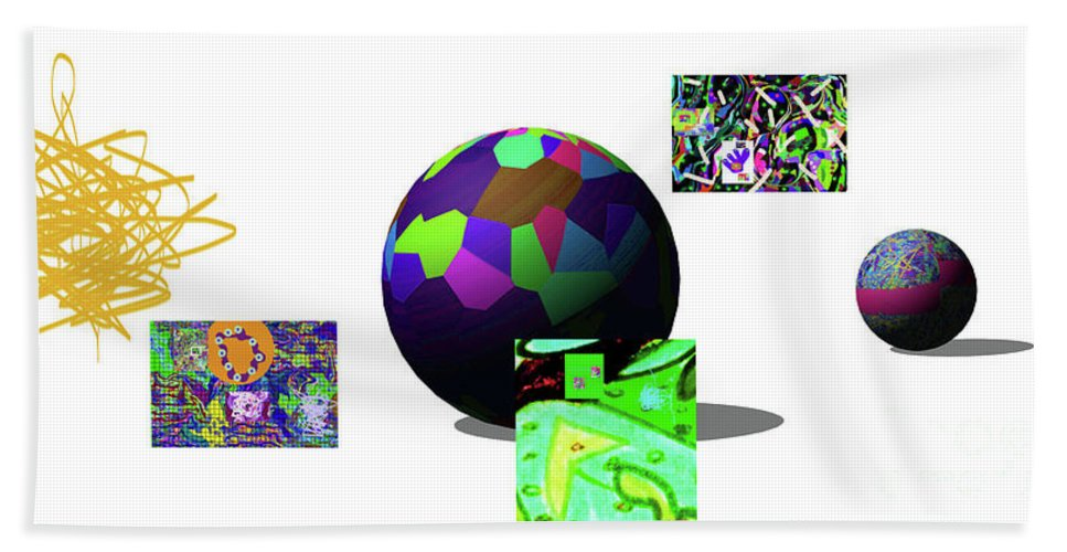 Walter Paul Bebirian Bath Sheet featuring the digital art 3-23-2015dabcdefghijklmnopqrtuvwxyz by Walter Paul Bebirian