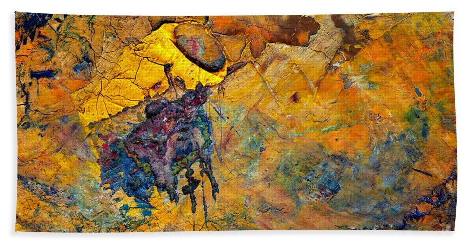 Palette Bath Sheet featuring the painting Abstract by Michal Boubin