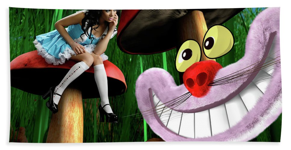 Alice Bath Sheet featuring the photograph Alice In Wonderland by Oleksiy Maksymenko