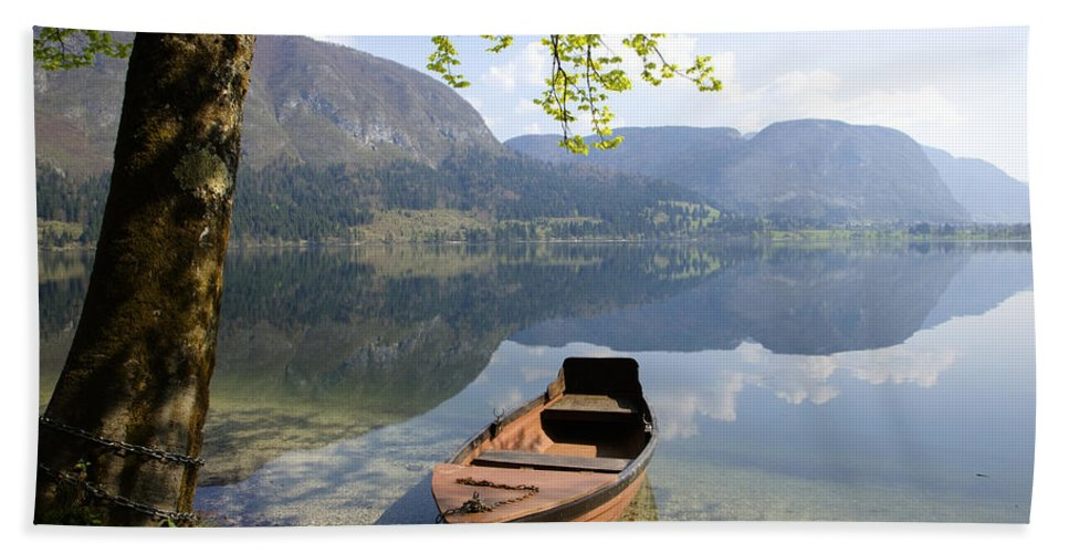 Reflections Bath Sheet featuring the photograph Alpine Moods by Ian Middleton